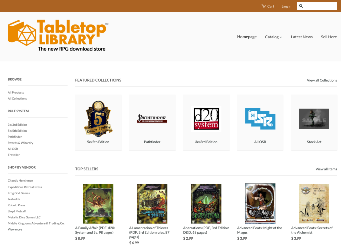 TableTopLibrary